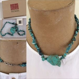 🟡 Turquoise necklace made in Peru